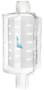 Transparent baffle bag