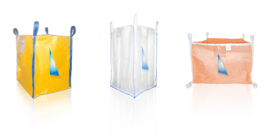 A group of polypropylene bags in different colors and shapes.
