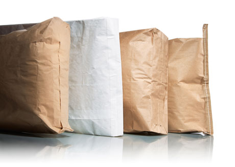 Different styles of paper bag openings and liners.