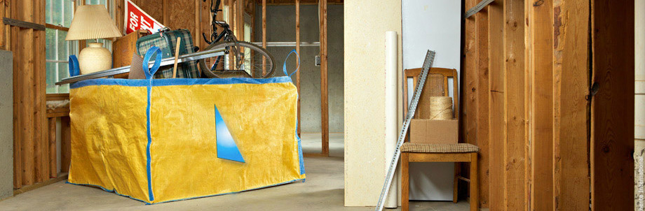 Anthente's PolyBin - a bulk bag designed for retail use, specifically for home renovation.