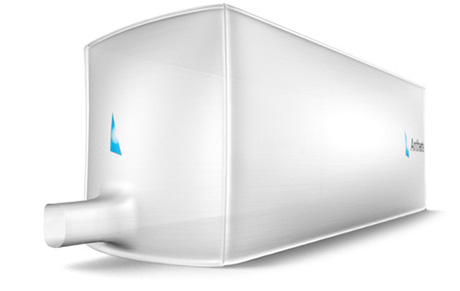 Rendering of a dry container liner.