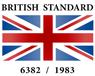 British Standard 6382/1983 logo.