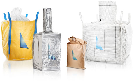 A group of bulk bags using different materials and sizes manufacture by Anthente.