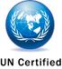 UN certification logo.